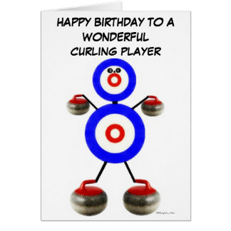 Birthday Curling Player Card