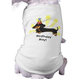 Birthday Dachshund (smooth coat) Sleeveless Dog Shirt