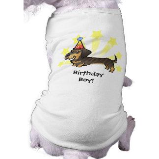 Birthday Dachshund (wirehair) Sleeveless Dog Shirt