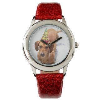 Birthday Dachsund dog fashion watch