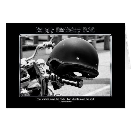 Birthday - Dad - Biker Helmet - Motorcycle