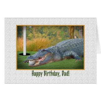 Birthday, Dad, Golf, Alligator Card
