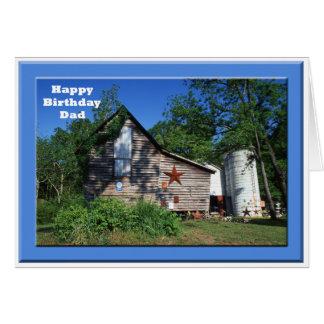 Birthday - Dad Old Virginia Barn Card