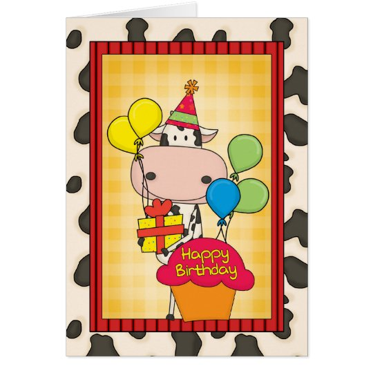 Birthday Dairy Cow Card
