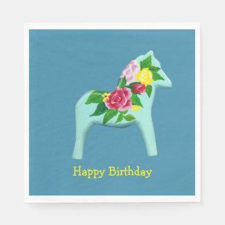 Birthday Dala Horse Paper Napkin