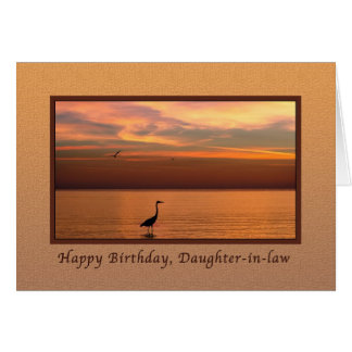 Birthday,  Daughter-in-law, Ocean View at Sunset Card