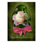 BIRTHDAY - DAUGHTER-IN-LOVE  - PEONIES/BOW CARD