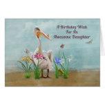 Birthday, Daughter, Pelican, Flowers