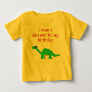 Birthday Dinosaur apparel Baby T-Shirt