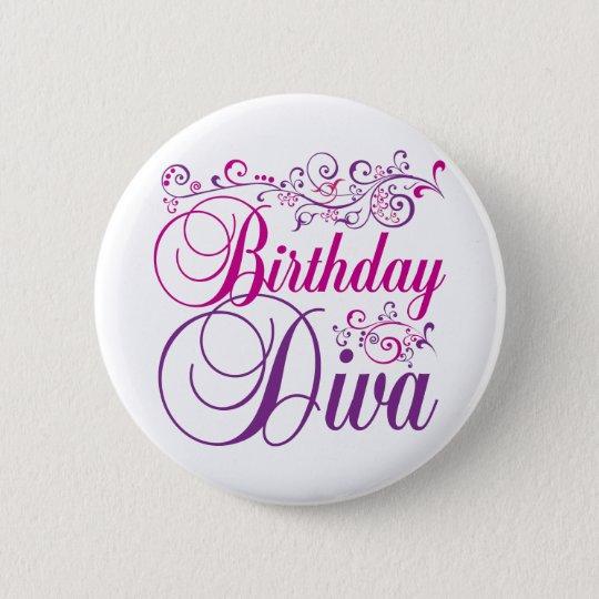 Birthday Diva 6 Cm Round Badge