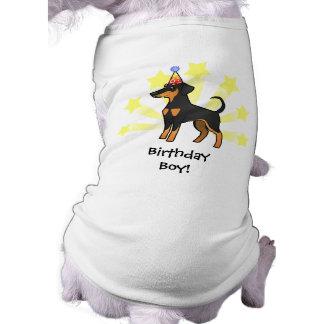 Birthday Doberman Pinscher (floppy ears) Sleeveless Dog Shirt