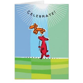 Birthday Dog with Balloon Animal Card