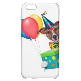 Birthday Dog With Balloons Tie and Glasses iPhone 5C Cover