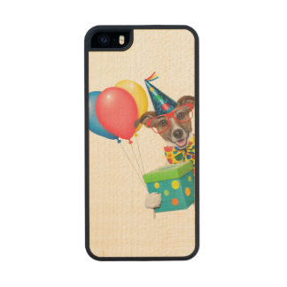 Birthday Dog With Balloons Tie and Glasses iPhone 6 Plus Case