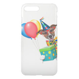 Birthday Dog With Balloons Tie and Glasses iPhone 7 Plus Case