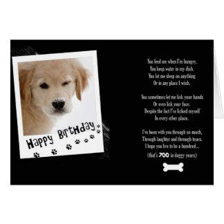 Birthday Doggy Humour Greeting Card