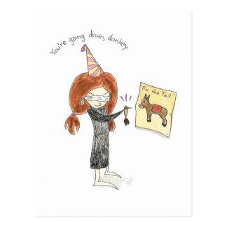 Birthday Donkey Postcard