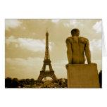Birthday Eiffel Tower Gay Greeting Card