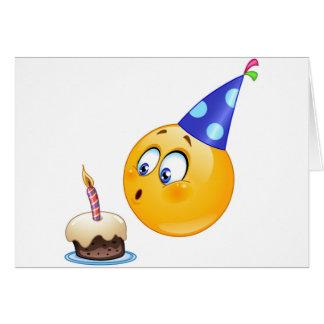 birthday emoji greeting card