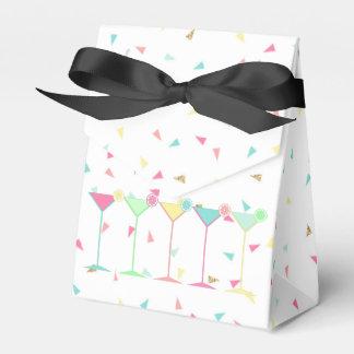 Birthday Favor Boxes, Confetti, Cocktails, Martini Favour Box