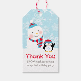 Birthday Favor Tags | Winter ONEderland Party