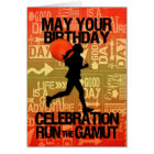 Birthday Female Runner Sport Theme Card
