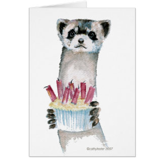 Birthday Ferret Card