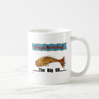 Birthday Fish 60th Basic White Mug