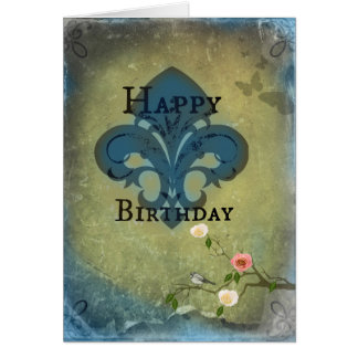 Birthday Fleur De Lis Card
