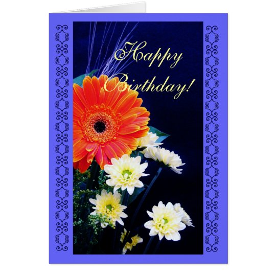 Birthday Flower bouquet Card