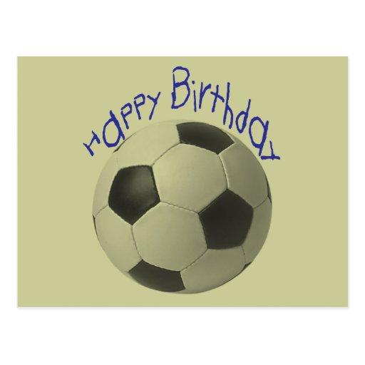 Birthday Football Gifts Post Cards