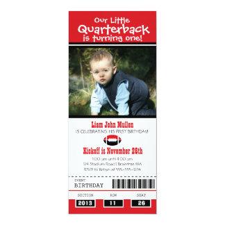 Birthday Football Ticket 10 Cm X 24 Cm Invitation Card
