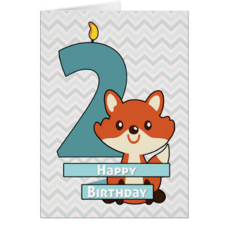 Birthday for a Child Turning Two Years Old Greeting Card