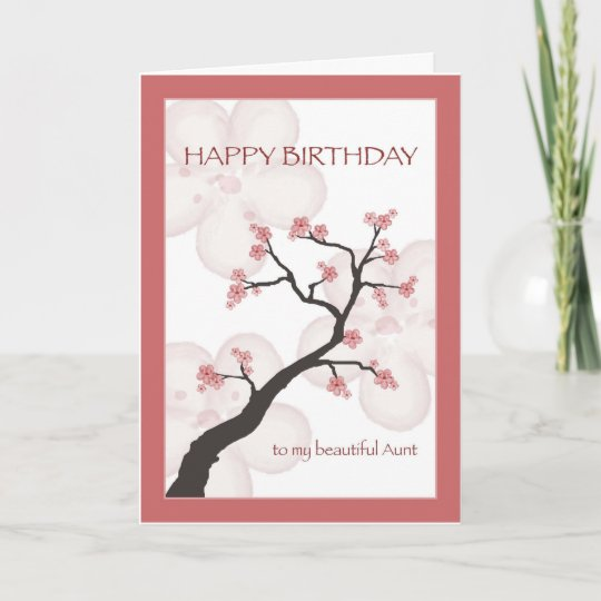 Birthday For Aunt Chinese Blossom Tree Card Zazzle