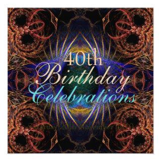 Birthday Fractal Celebrations Invitation
