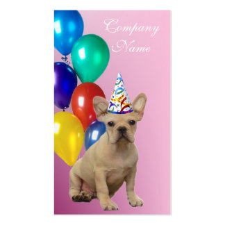 Birthday French Bulldog Business Cards