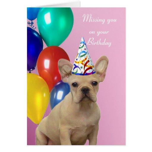 Birthday French Bulldog Cards