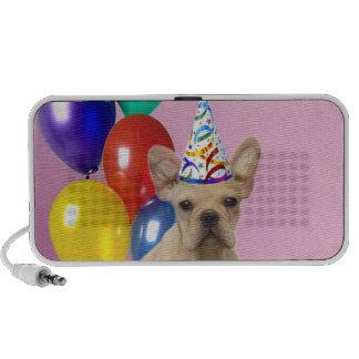 Birthday French Bulldog doodle speaker