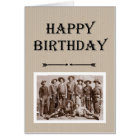 Birthday from Gang Vintage Cowboys Fun Card