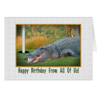 Birthday, From Group, Golf, Alligator Card