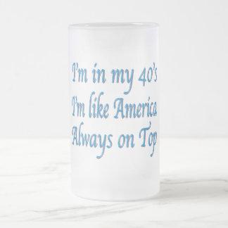 Birthday Frosted Glass Mug