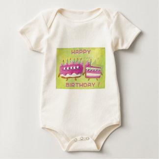 Birthday Fruit Cake Baby Bodysuit