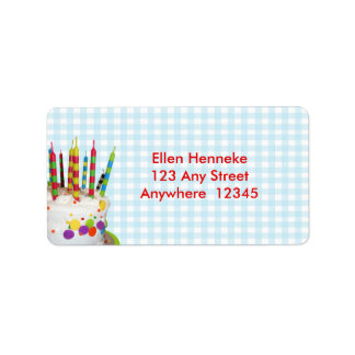 Birthday Fun Address Label