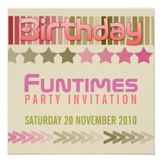 Birthday FunTimes Invitation