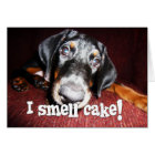 Birthday General - Nosy Doberman Pinscher Puppy Card