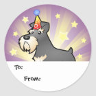 Birthday Giant/Standard/Miniature Schnauzer Classic Round Sticker