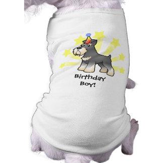 Birthday Giant/Standard/Miniature Schnauzer Sleeveless Dog Shirt