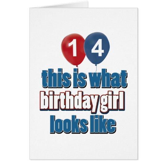 Birthday Girl 14 Card