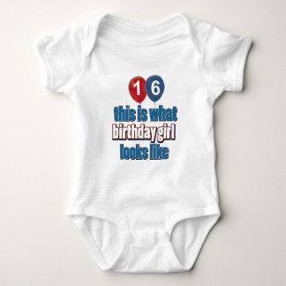 Birthday Girl 16 Baby Bodysuit