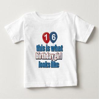 Birthday Girl 16 Baby T-Shirt